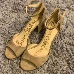 Sam Edelman block heels 10.5 10 1/2